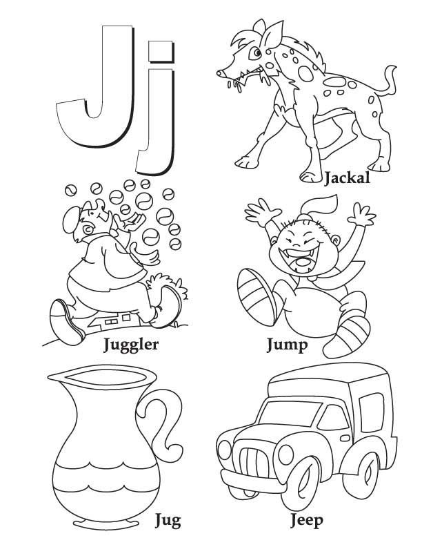 j is for coloring pages - photo #15