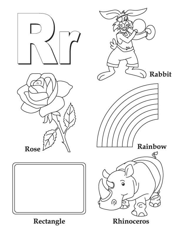 R Is For Ring Coloring Pages Alphabet activity 1 en...
