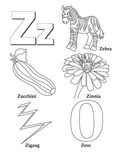 Letter Z Words For Kindergarten - Scalien